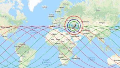 صورة مركز الفلك الدولي يصدر تحديثًا حول مكان وموعد سقوط حطام الصاروخ الصيني